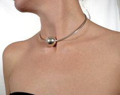 CUSTOM MADE sterling silver open choker sphere by BIZARREjewelry