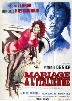 Mariage à l'Italienne - Vittorio de Sica 1963Avec Sophia Loren, Marcello Mastroianni - Film de 1963 : « Pendant la guerre, Domenico Soriano, commerçant appartenant à une famille napolitaine aisée, rencontre… - Art Richelieu - 23/03/2015