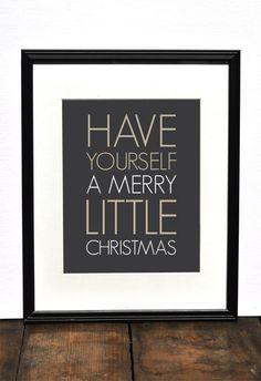 Merry Little Christmas Art Print // Modern Minimalist Christmas Decor // Neutral White Christmas Decor // Holiday Print. $18.00, via Etsy.