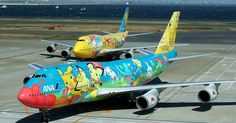 Mais aviões decorados com #Pokémons, da #AllNipponAirways (ANA)