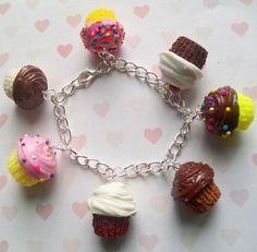 32 00 Polymer Clay Cupcake Bracelet