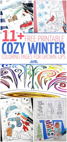 get these 11 free printable winter coloring pages for adults not just for christmas