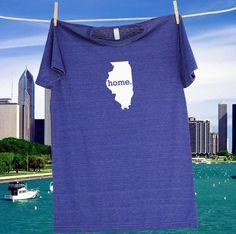Illinois Home State Tee Shirt TShirt  Unisex Sizes by HomelandTees, $21.95