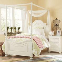 Sophie High Poster Canopy Bed & 19 Fabulous Canopy Bed Designs For Your Little Princess | Bed ...