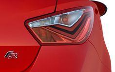 Nový SEAT Ibiza FR je díky novým světlometům s LED diodami pro denní svícení vždy vidět. Ibiza, Honda Logo, Led, Superhero, Fictional Characters, Design, Autos, Fantasy Characters