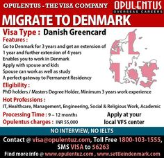Denmark Green Card is an excellent opportunity for a professional looking for a career & life in the EU as Danish companies are facing shortages in getting qualified employees. This Danish Green Card program is the best way of allowing qualified individuals to come in and work in Denmark under the Danish Green Card as a pathway to Denmark Immigration.  If you score 100 points you get a green card which allows you to work and settle in Denmark under the Danish Green Card.