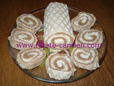 Rulada de napolitane cu crema de nuca de cocos | Retete Prajituri De Casa , Prajituri Simple , Retete Rapide si Usoare de Pasti