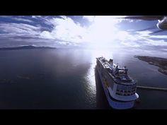 Dji Phantom Over Quantum Of The Seas In Martinique