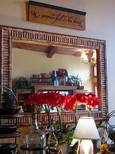 wine cork mirror frame