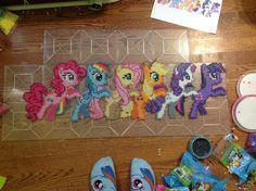 MLP Pony Conga Line perler bead sprite by MoonSplashpony on deviantART