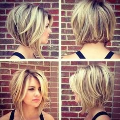 Stacked Bob Hairstyles For Women, With a couple styling tricks you're able to transform the medium hairstyles in various styles. The medium hairstyles are a rather excellent alternate . Short Hair Cuts For Round Faces, Round Face Haircuts, Short Hair With Layers, Hairstyles For Round Faces, Round Face Bob, Bob Haircut For Round Face, Bobs For Round Faces, Short Stacked Hair, Hair For Round Face Shape