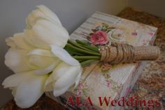 Silk Flowers, Burlap and Twine Tossing Bridal Bouquet   One Of A Kind, Hand-Made