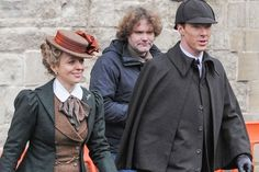 Cumberbatch and Freeman (and Mary) Dress Like Original Sherlock and Co. -- Vulture