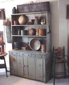 Restored country furniture and vintage treasures Primitive Cabinets, Primitive Kitchen, Primitive Furniture, Primitive Antiques, Country Furniture, Wooden Cabinets, Primitive Country, Primitive Decor, Prim Decor