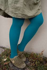 Color Tights - Not only are these tights nicely opaque at 80 denier, they come in a great rainbow of colors and in two sizes!*