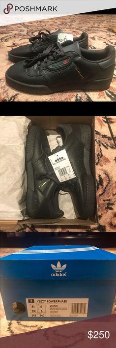 dd89151451172 6.5 Yeezy x Adidas black Powerphase Yeezy x adidas Powerphase sneaker in  core black Men s size