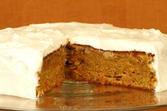 Gluten-free Carrot cake with ginger frosting.