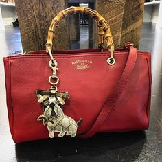 Obsessing over this Gucci French Bulldog Bag Charm & Gucci bag!! Shop them NOW on www.mymoshposh.com!