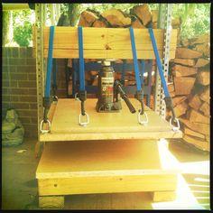 Homemade printing press
