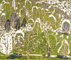 "yama-bato: "" Trees in Spring, c. 1917 David B. Milne oil on canvas x cm Gift of Douglas M. Duncan, Toronto, 1968 National Gallery of Canada (no. Spring Landscape, Green Landscape, Canadian Painters, Canadian Artists, Ottawa, David Milne, Art Inuit, National Art, Photo Tree"