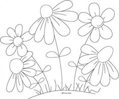 Satin Stitch Flower - Hand Embroidery Tutorial - Embroidery Patterns Mothers Flowers Country Line Art Pattern : Digi Scrap Kits - Quality Clip Art, Quality Clip Art, Digital Stamps, Cut Files by Trina Walker (Clark) Hand Embroidery Tutorial, Embroidery Flowers Pattern, Hand Embroidery Stitches, Embroidery Applique, Cross Stitch Embroidery, Machine Embroidery Designs, Embroidery Ideas, Pattern Flower, Simple Embroidery