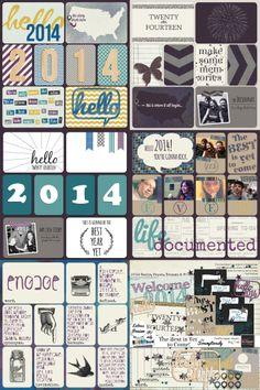 Scrumptiously PixelScrapper January 2014 Blog Train Title Card & Journal Card Freebies