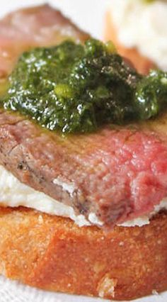 steak and horseradish cream crostini with steak and horseradish cream ...