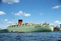CARONIA Cunard Ships, Ship Tracker, Merchant Marine, Oceans Of The World, Beautiful Ocean, Battleship, Vintage Travel, Sailing, Boat