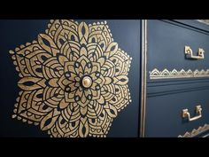 Metallic Raised Stencil on a Budget ~ Chalk Paint - YouTube Diy Old Furniture Makeover, Paint Furniture, Waverly Chalk Paint, Chalk Paint Projects, Diy Projects, Piercings, Diy Store, Stencil Designs, Decorating On A Budget