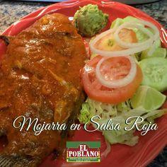 Hoy almuerza una Mojarra  en salsa roja! #ElPoblano #mexicanRestaurant #mojarra #mojarraensalsa #comidamexicana #latinos