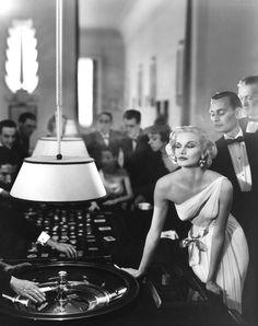 Richard Avedon: Sunny Harnett, Evening dress by Grès, Casino, Le Touquet, August 1954