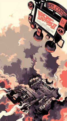 Matt Taylor – Back to the Future Part II Geek Art – Art, Design, Illustration & Pop Culture ! Graphisches Design, Kunst Poster, Art En Ligne, Alternative Movie Posters, Movie Poster Art, Fan Art, Geek Art, Back To The Future, Comic Artist