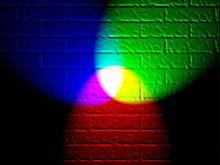 RGB on brick wall