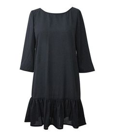 Take a look at this Black Sequin Bow Bell-Sleeve Dress by ANKOREL on #zulily today!