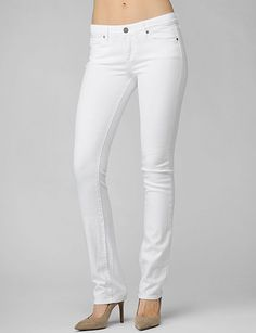 Paige Denim - Skyline Straight - Optic White available at Nordstrom or Amazon