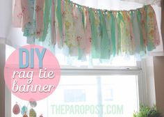 How to make rag tie banners