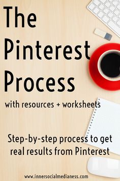 Click through to get a step-by-step process to the answer to your questions about how to make Pinterest work. The Pinterest Process Workbook will give you simple easy to follow action steps to give you clarity with your Pinterest strategy. You'll also get a tracking guide that you can customize to monitor your Pinterest marketing plans so you can see where to pin AND printable tracking worksheets to use every month to track your progress.