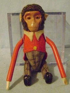 icollect247.com Online Vintage Antiques and Collectables - Schuco Rollover Monkey Toys-Wind ups