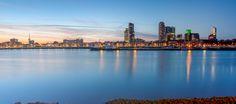 Nieuw in mijn Werk aan de Muur shop: Maashaven Rotterdam panorama