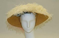 Hat | American, early 20th century | Materials: straw, feathers | The Metropolitan Museum of Art, New York