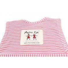 Υπνόσακος Go Go Bag της Merino Kids από 100% φυσικά υλικά (μαλλί μερινό και οργανικό βαμβάκι). Χρώμα Raspberry. Λεπτομέρεια - το πάνω μέρος της πλάτης του υπνόσακου.