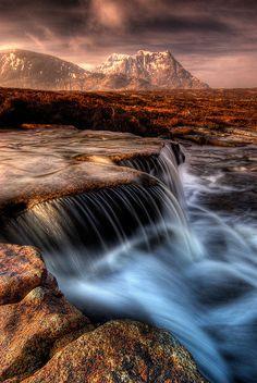 ~~Back to the Cauldron ~ Sron na Creise, from a waterfall near the 'Kingshouse' Hotel, Glencoe, Scotland by ouldm01~~