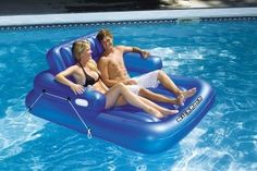 Adjustable Double Lounger Swimming Pool Float #relaxing #summer