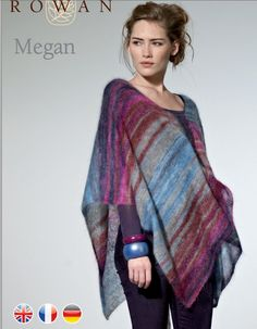 Megan, free pattern on Rowan website, needs only 4 balls of Rowan Kidsilk Stripe!