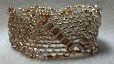 Gold Crystal Twin Cuff