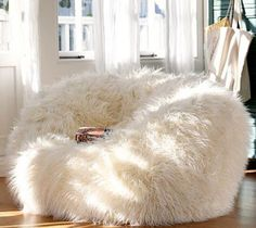 fede37bad372 large-faux-fur-bean-bag More Fluffy Bean Bag Chair