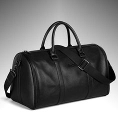New 2016 Fashion Genuine Leather Men's Travel Bag Luggage Bag real leather Men Duffle Bag Weekend Bag Big Tote Overnight Black