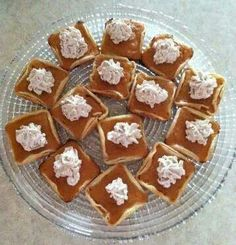 Mini pumpkin pies in the pampered chef brownie pan