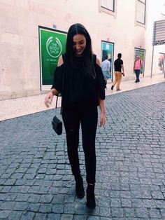 Black outfit #black #outfit #girl #today #street #style