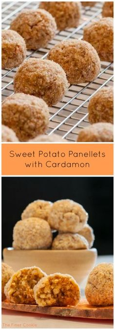 Sweet potato panellets with cardamom.